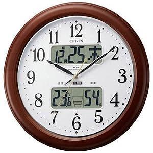 シチズン 高精度温湿度計付電波掛時計「インフォームナビEX」 4FY620‐006(送料無料)