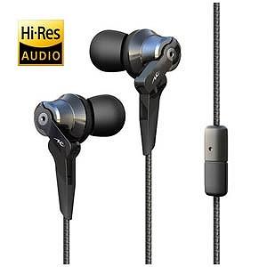 RADIUS 「ハイレゾ音源対応」「マイク付」カナル型イヤホン(ブラック)1.2mコード HP‐NHA21K