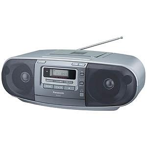 パナソニック 「ワイドFM対応」CDラジカセ(ラジオ+CD+カセットテープ) RX‐D47‐S (シルバー)