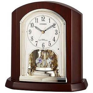 リズム時計工業 電波置時計 「パルロワイエR702SR」  4RY702SR06(送料無料)