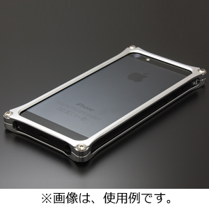 ギルドデザイン iPhone SE/5s/5用ソリッドバンパー シルバー ストラップホール付 41730 GI‐262S(送料無料)
