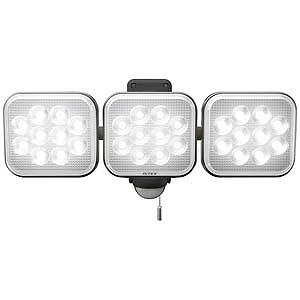 RITEX 12W×3灯フリーアーム式LEDセンサーライト CAC36