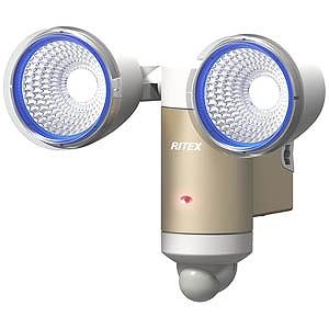 RITEX 3W×2灯LEDソーラーセンサーライト CSC60