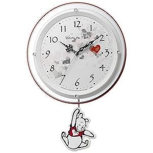 リズム時計工業 電波掛け時計「くまのプーさん」 8MX407MC03