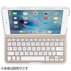 ベルキン iPad mini 4用 QODE Ultimate Liteキーボードケース F5L191QEWGW (ホワイト/ゴールド)