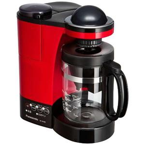 パナソニック ミル付き浄水コーヒーメーカー(5杯分) NC-R400-R (レッド)(送料無料)