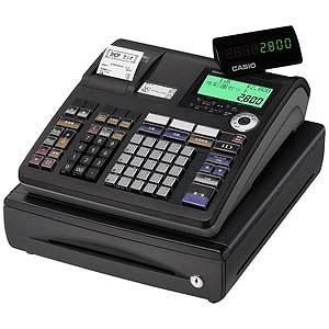 CASIO 電子レジスター TE‐2800‐25SBK (ブラック)