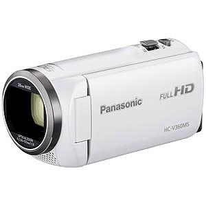 パナソニック SD対応 16GBメモリー内蔵フルハイビジョンビデオカメラ HC-V360MS-W (ホワイト)(送料無料)