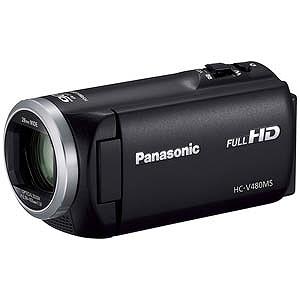 パナソニック SD対応 32GBメモリー内蔵フルハイビジョンビデオカメラ HC-V480MS-K (ブラック)(送料無料)
