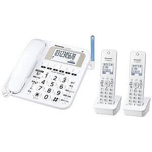 パナソニック (子機2台)デジタルコードレス電話機「RU・RU・RU(ル・ル・ル)」 VE-E10DW-W(ホワイト)