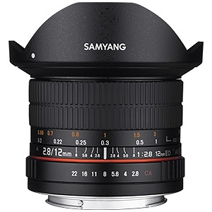 SAMYANG 交換レンズ 12mm F2.8 ED AS NCS Fisheye フルサイズ対応(ソニーEマウント)