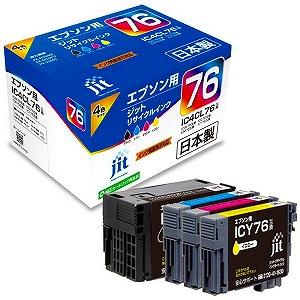 ジット (互換)[エプソン:IC4CL76(4色セット)対応]リサイクルインクカートリッジ JIT-AE764P