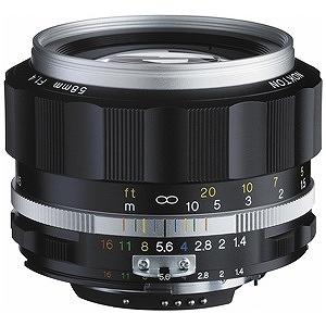カールツァイス 交換レンズ NOKTON 58mm F1.4 SL IIS(シルバーリム)(CPU付きニコンAi-sマウント)【ニコンFマウント】