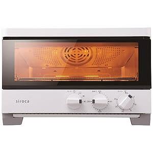 SIROCA コンベクションオーブン「ハイブリッドオーブントースター」(1350W) ST-G111-W (ホワイト)(送料無料)