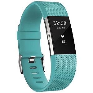 ウェアラブル端末 心拍計+フィットネスリストバンド「Fitbit Charge2」(Lサイズ) FB407STEL-JPN (Teal)