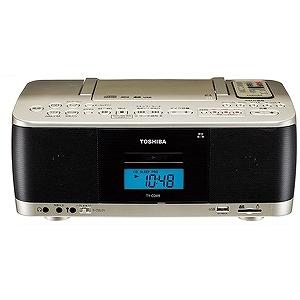 東芝 CDラジカセ(ラジオ+SD+USBメモリー+CD+カセットテープ) TY‐CDX9(N)サテンゴールド(送料無料)