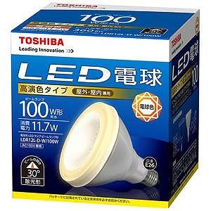 東芝 LED電球「E-CORE」(ビームランプ形・全光束750lm/電球色相当・口金E26) LDR12L-D-W