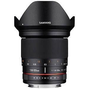 SAMYANG 交換レンズ 20mm F1.8 ED AS UMC【ニコンFマウント】