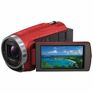 ソニー メモリースティックマイクロ/マイクロSD対応 64GBメモリー内蔵 フルハイビジョンビデオカメラ HDR-CX680(R)(レッド)