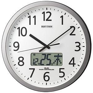 リズム時計工業 電波掛け時計「プログラムカレンダー405SR」 4FN405SR19