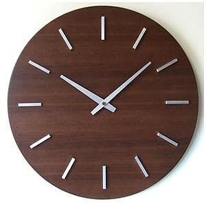 フォーカススリー 掛け時計「ウォールナットの時計」 V-0011BR