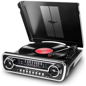 IONAUDIO レコードプレーヤー Mustang(ブラック) Mustang LP BK