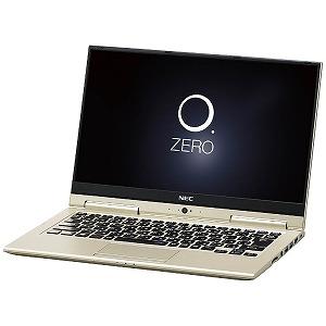 NEC 13.3型ワイド モバイルノートPC LAVIE Hybrid ZERO PC-HZ350GAG プレシャスゴールド