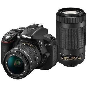 ニコン D5300(AF-P ダブルズームキット)(ブラック/デジタル一眼レフカメラ) D5300WZ3(送料無料)