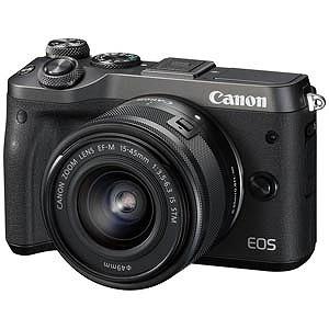 Canon ミラーレス一眼 EOS M6(EF-M15-45 IS STM レンズキット)ブラック EOSM6BK1545ISSTMLK