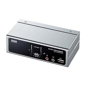 サンワサプライ USB・PS/2コンソール両対応パソコン自動切替器(2:1) SW-KVM2HVCN
