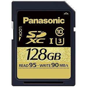 パナソニック SDXCメモリカード UHS-I対応 UHSスピードクラス3 [Class10対応/128GB] RP-SDUC128JK