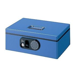 プラス 手提金庫「F型CB-020F-BL M」 12-834 (ブルー)