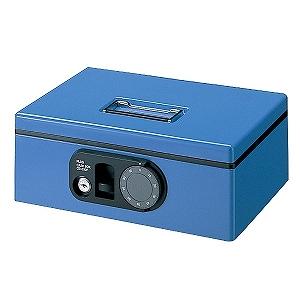 プラス 手提金庫「F型CB-030F-BL S」 12-843 (ブルー)