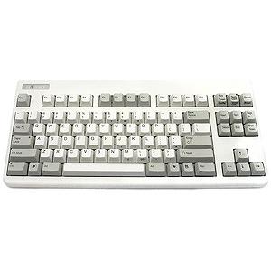 東プレ 有線キーボード[USB 1.6m・Win](英語配列 87キー・ホワイト テンキーなし) SE070S