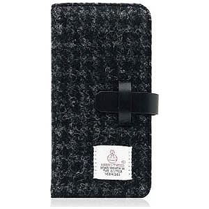 ROA iPhone 7用Harris Tweed Diary ブラック SLG Design SD8117i7
