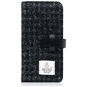 ROA iPhone 7 Plus用Harris Tweed Diary ブラック SD8151i7P