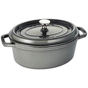 ホーロー鍋「ピコココットオーバル」(2.3L) 40500-236 グレー