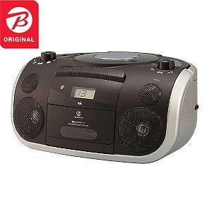 小泉成器 「ワイドFM対応」Bluetooth対応 CDラジカセ(ラジオ+CD+カセットテープ) SDB-4810/K (ブラック)