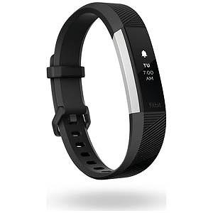Fitbit ウェアラブル端末 心拍計+フィットネス リストバンド 「Alta HR」 Lサイズ FB408SBKL-CJK Black
