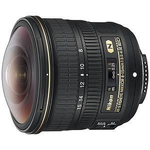 ニコン 交換レンズ 「ニコンFマウント」 AF-S Fisheye NIKKOR 8-15mm f/3.5-4.5E ED