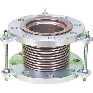 排気ライン用伸縮管継手 5KフランジSS400 100AX100L NK7300100100
