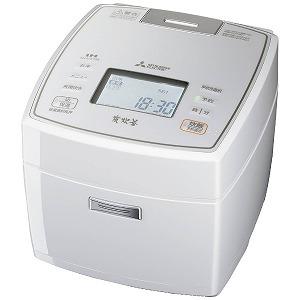 三菱 IH炊飯ジャー 「炭炊釜」(5.5合)  NJ-VX108-W ピュアホワイト(送料無料)