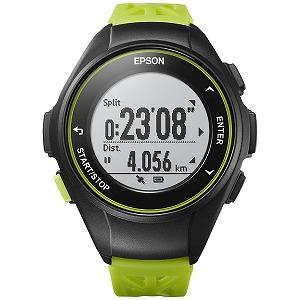 EPSON GPSランニングウオッチ 「WristableGPS」  Q-10G グリーン(送料無料)