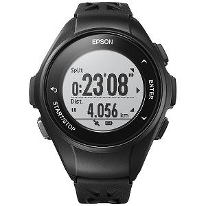EPSON GPSランニングウオッチ 「WristableGPS」  Q-10B ブラック(送料無料)