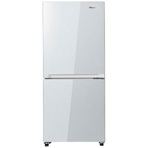 ハイセンス 2ドア冷蔵庫(134L・右開き) HR-G13A-W ガラスホワイト(標準設置無料)