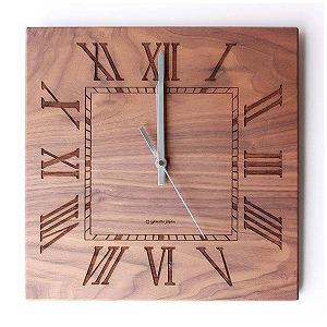 掛け時計 「Muku -ローマ数字-」 YK14-101-RBR (ウォールナット)