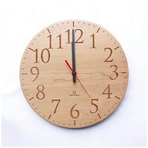掛け時計 「Muku -円スタンダード数字-」 YK15-102-SCR (チェリー)