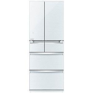 三菱 6ドア冷蔵庫 「置けるスマート大容量 WXシリーズ」(470L・フレンチドア) MR-WX47LC-W クリスタルホワイト(標準設置無料)