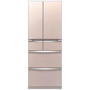三菱 6ドア冷蔵庫 「置けるスマート大容量 WXシリーズ」(470L・フレンチドア) MR-WX47LC-F クリスタルフローラル(標準設置無料)