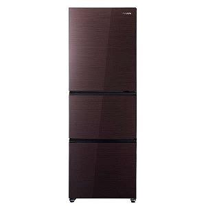 ハイセンス 3ドア冷蔵庫(282L・右開き) HR-G2801-BR ダークブラウン(標準設置無料)